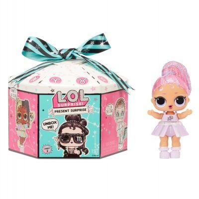 L.O.L. Surprise! Present Surprise Glitter Shimmer Star Sign Themed Doll - Zodiac.