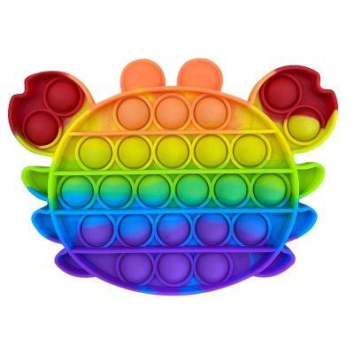Push Bubble Fidget Pop IT krabi mitmevärviline