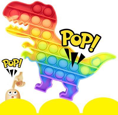 Push Bubble Fidget Pop IT Dino mitmevärviline