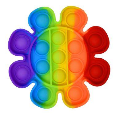Push Bubble Fidget Pop IT lillekujuline mitmevärviline