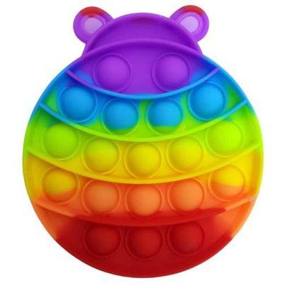 Push Bubble Fidget Pop IT lepatriinu mitmevärviline
